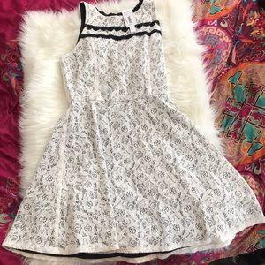 Aqua white dress Size L